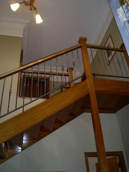 Stairway to bedrooms