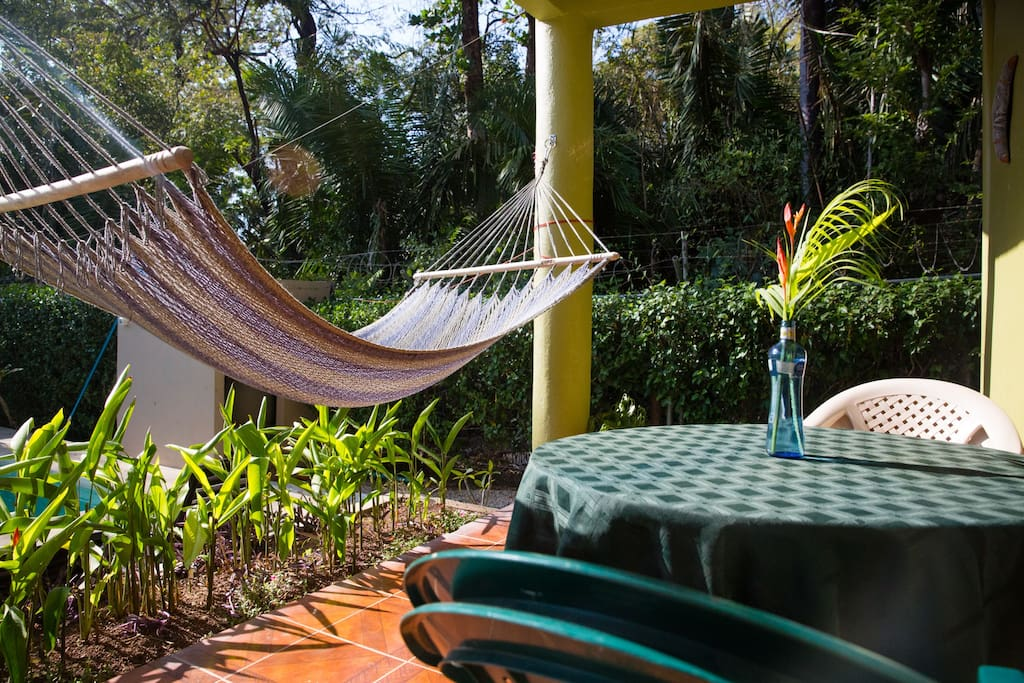 Lounge on the patio or in the hammock!
