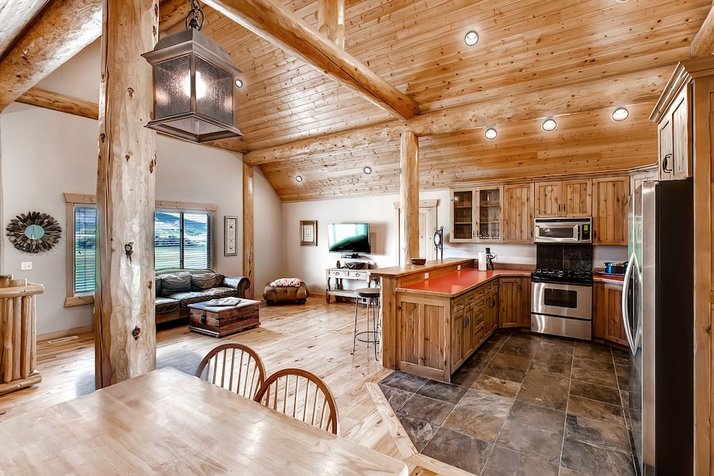 Inside, the cabin boasts 1,350 square feet of carefully appointed living space.