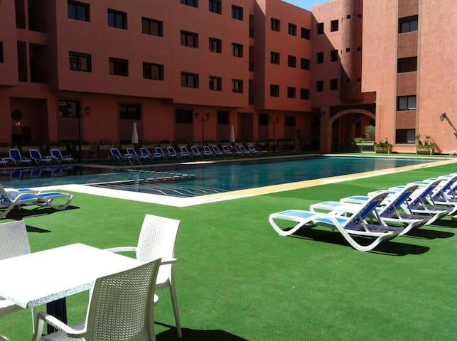 Appartement 3 pièces/piscine/wifi - Marrakesh - Appartement
