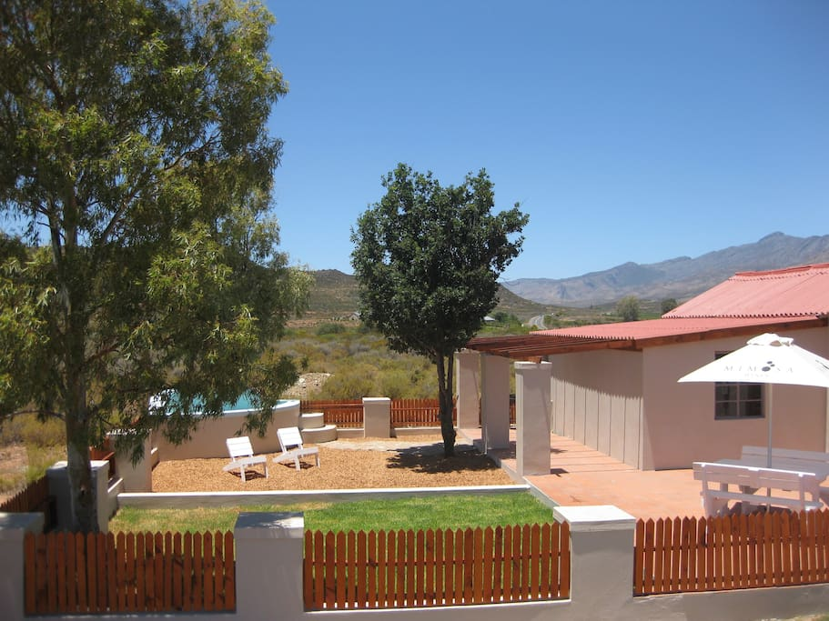 Private garden and braai with stunning views