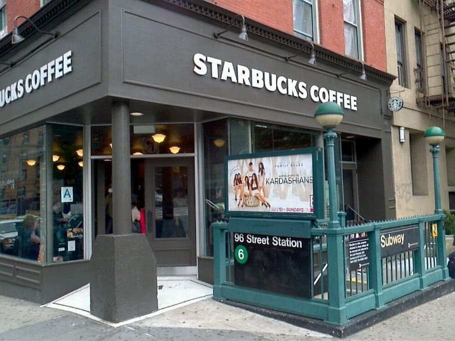 1/2 block to the Subway and Starbucks (free wifi)
