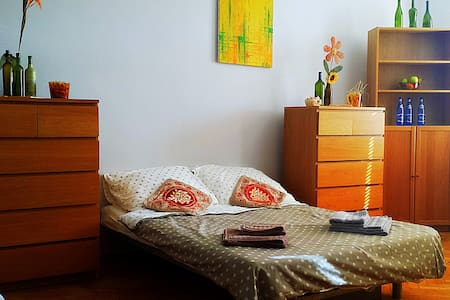 Spacious Room 2 mins from Main Railway Station! - Krakau - Wohnung