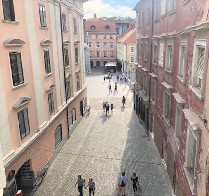 Ljubljana's Town Square Apartment