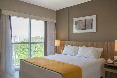 Suites confortáveis com toda infraestrutura