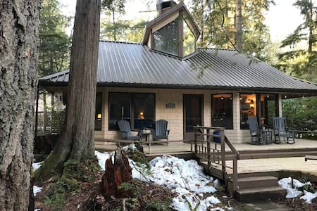 Barbary House, a cabin retreat in the woods