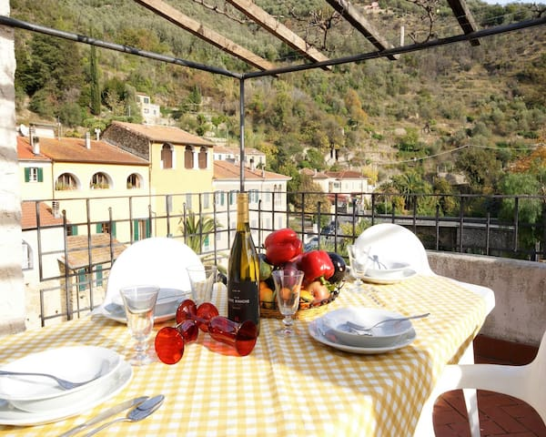 Holiday rental with terrace in ancient mill