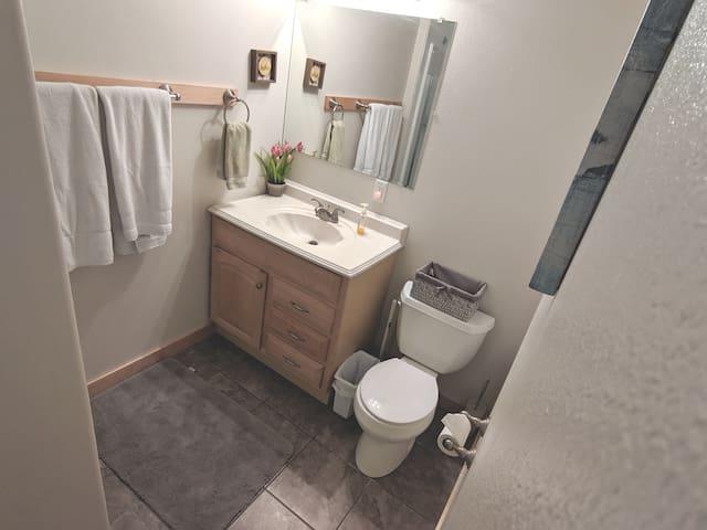 Nice clean bathroom!