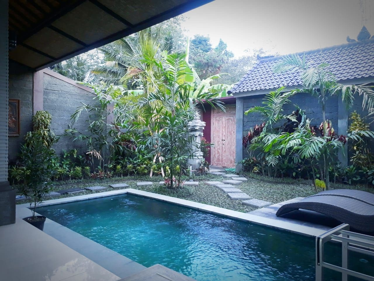 Private Pool and garden area