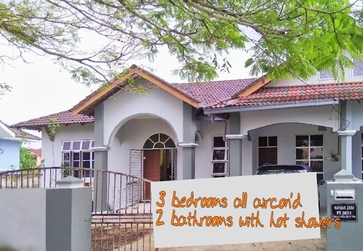 Spacious Semi-D WaWa Inn PP Kota Bharu Guesthouse
