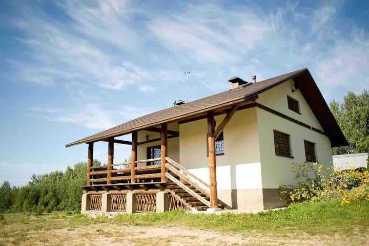 Эко Дом с пейнтболом  в сосновом бору