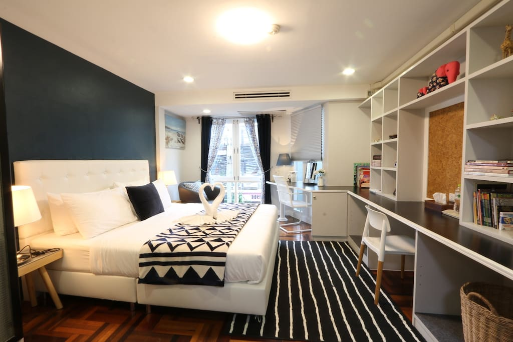 """Master Bedroom """"A"""" on the second floor, a king size bed for 2 persons"""