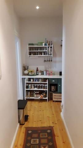 Hallway looking to Kitchen