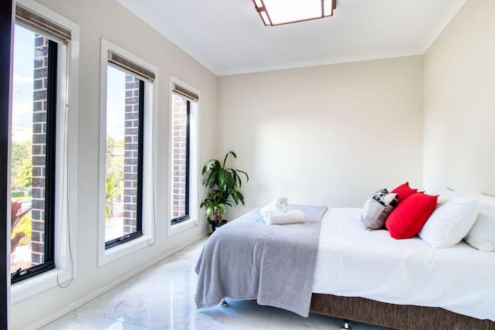 Sun-filled bedroom