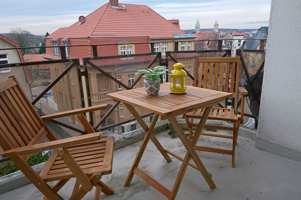 Dachterrasse mit Blick auf den Naumburger Dom