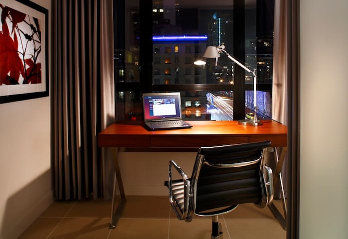 Working from home is not a problem with our high speed Wifi and comfortable work areas