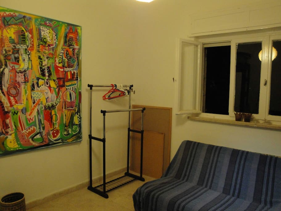 The flat is decorated with contemporary Israeli Art!