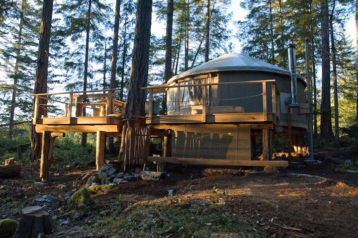 PADMA Yurt on Cortes Island, B.C.
