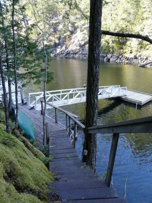 Going to the water...ok 110 steps or so ( we call it our mini Grouse Grind)