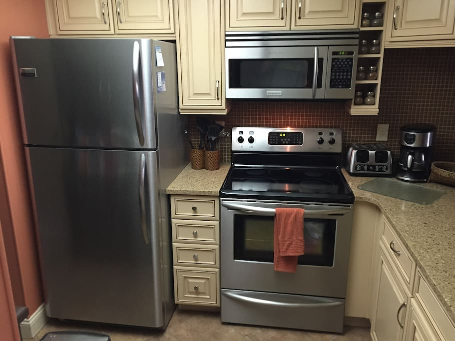 Updated cabinets, countertops and appliances in kitchen!