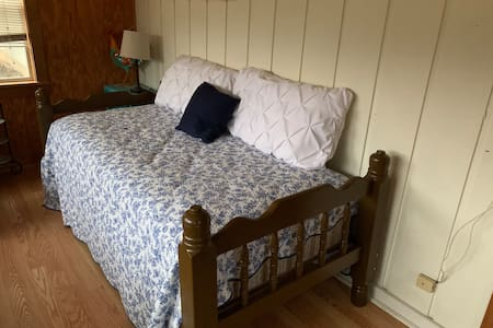 Twin bed in the studio