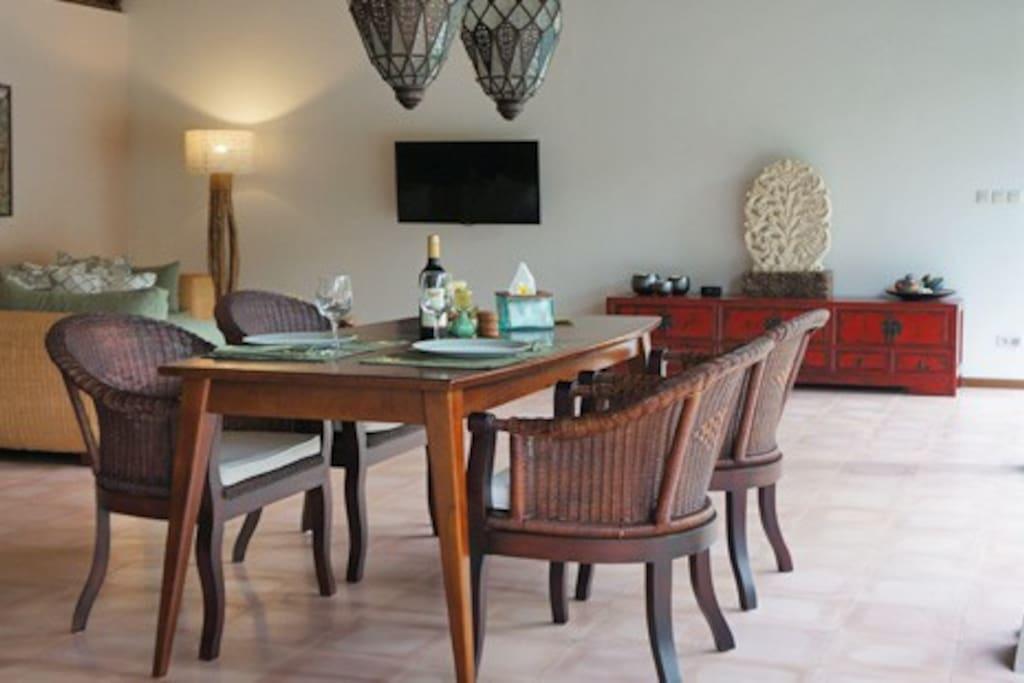 Dining at Villa Emas