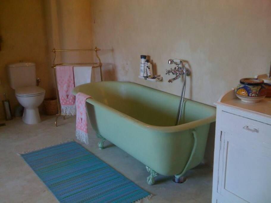 stanza da bagno con vista