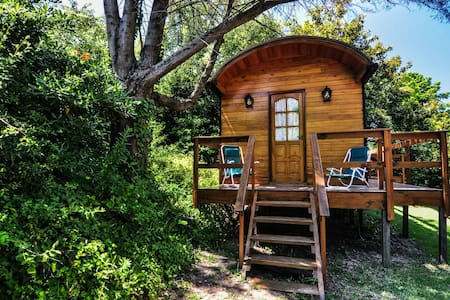 Cabaña Huincul romántica tipo vagón