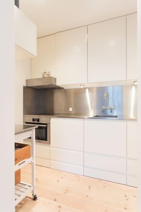 Kitchen with all kitchenware