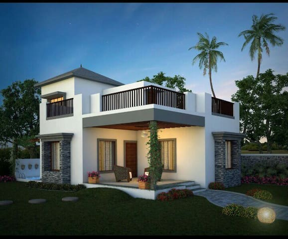 2bhk villa with splashpool, gir