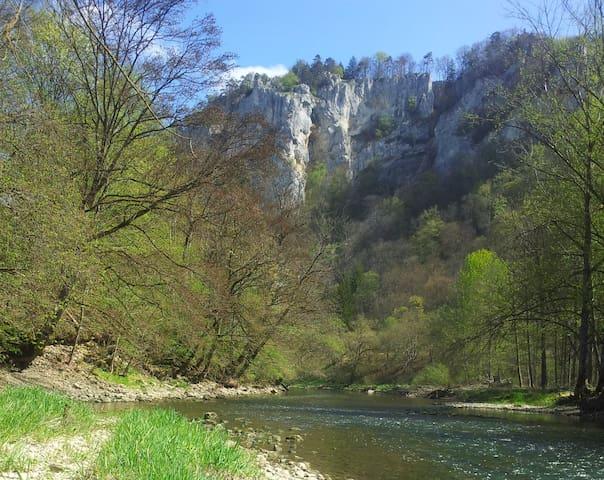 Auf dem Weg im Donautal..