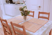 Lovely table for romance dinner.