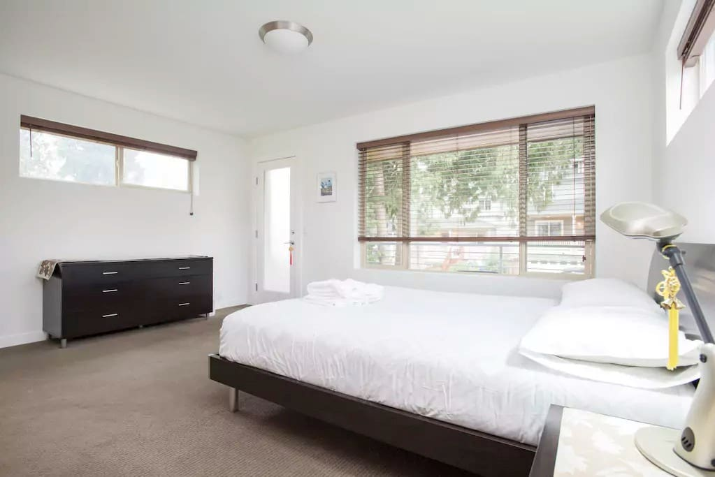 Private Bedroom with Queen Bed and Balcony