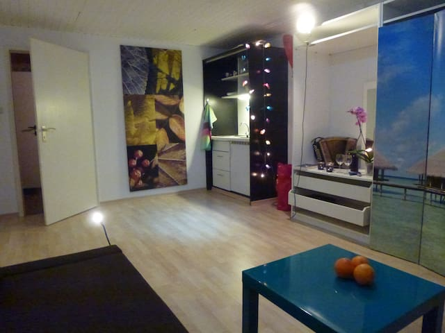 Spacy room with kitchenett+bathroom - Hamburg - Hus