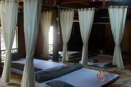 Dorm room in stilt house, Hoa Ban Lalastay