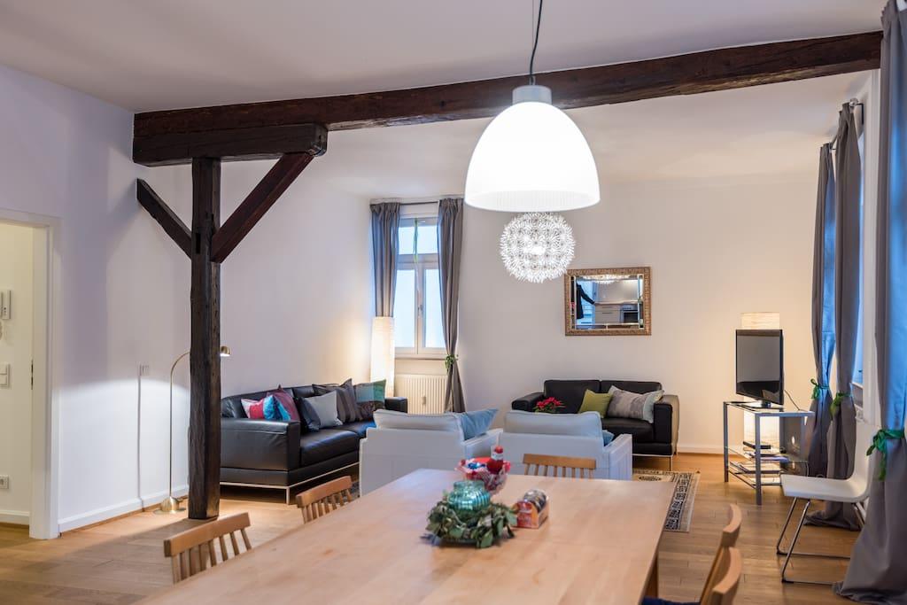 luxus wohnung bestlage mit neckarblick terrasse wohnungen zur miete in heidelberg baden. Black Bedroom Furniture Sets. Home Design Ideas