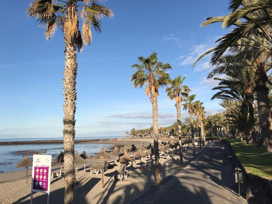 Playa El Camión. A 5 minutos andando