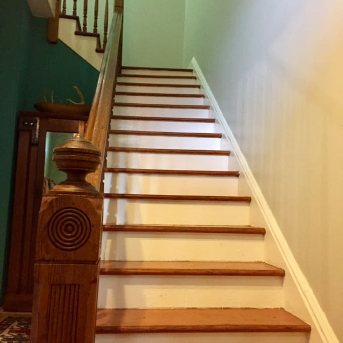 Stairway to the top floor that you have all to yourself!