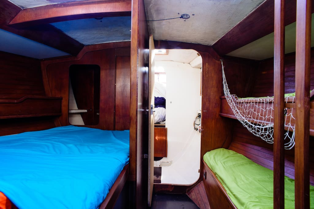 Sleeping in a sailboat