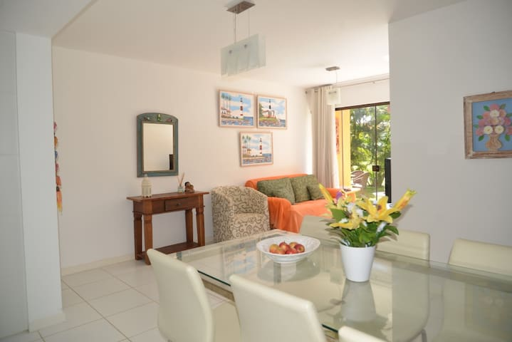 Lindo AP em condominio junto a praia paradisíaca - Camaçari - Appartement en résidence