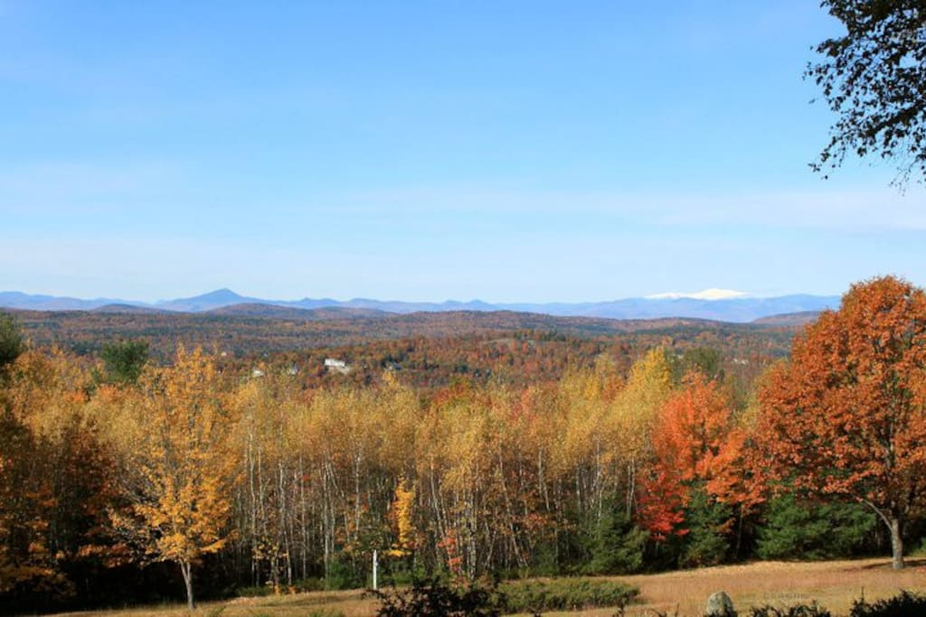 view of Mt. Washington from the front porch.
