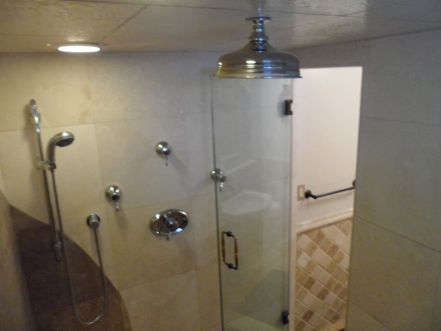 Steam Shower (Wet Sauna) in Upstairs Guest Bathroom