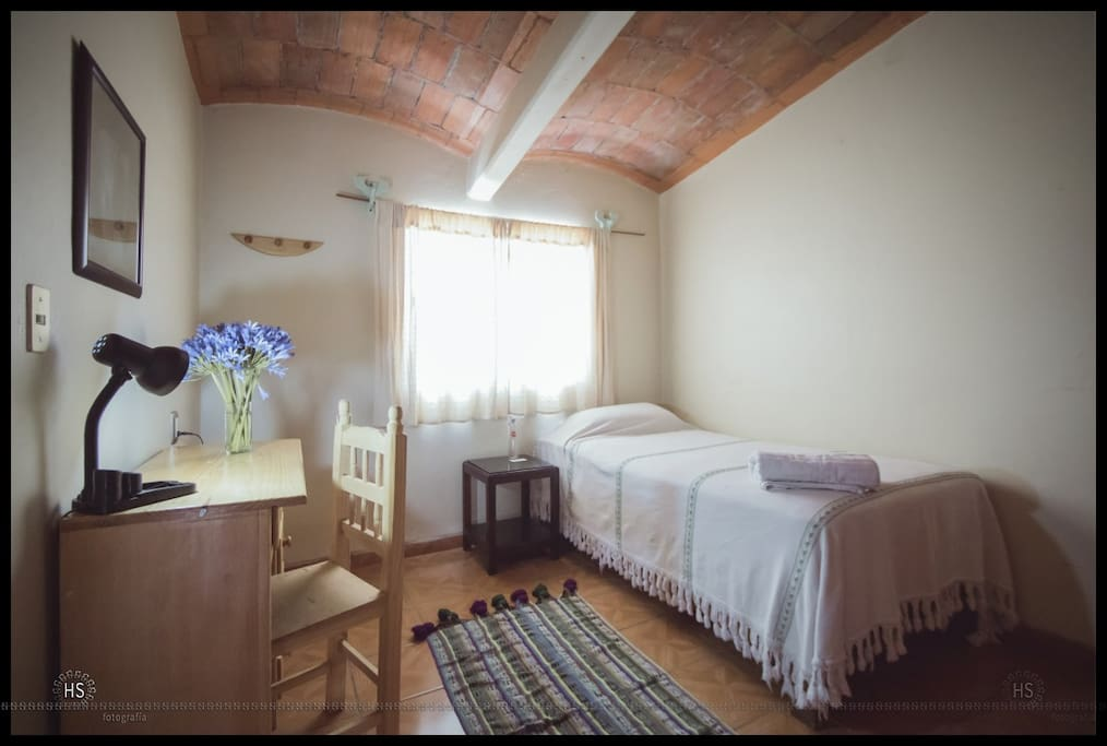 The basic bedroom with individual bed