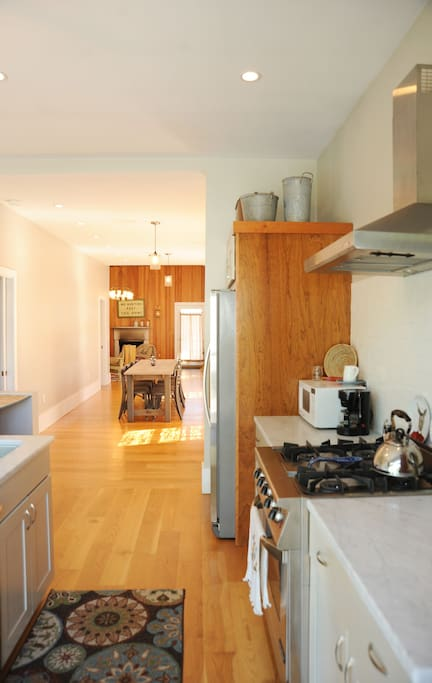 Large  Windows throughout offer bright light, open space