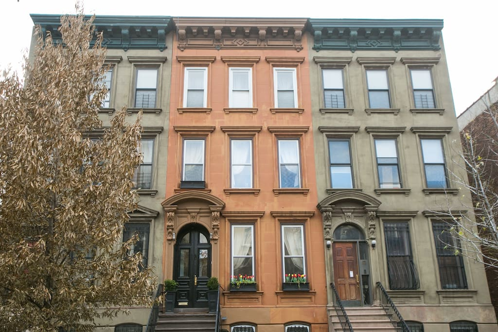 Historic NYC Brownstone built in 1886.  My House is the one in the middle!!!