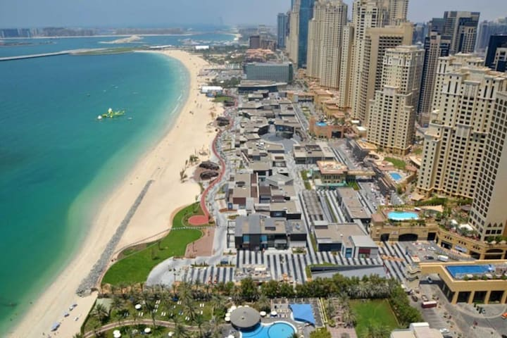 Marina view on the beach in JBR/Dubai Marina - Dubaj - Apartament