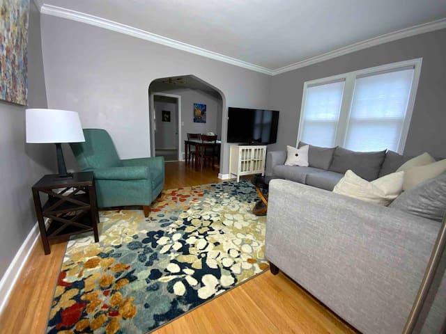 Living room; view from front door