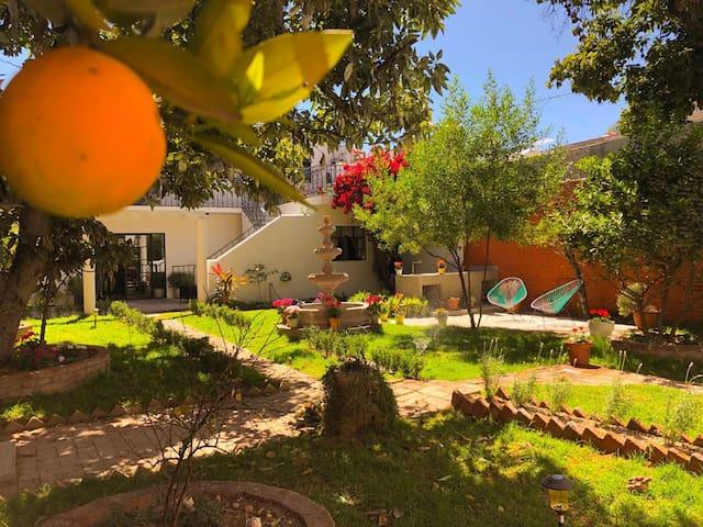 CASA MATIA. Habitación con jardín El Colibrí
