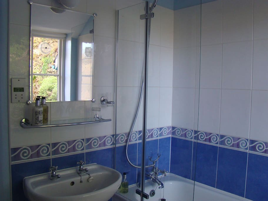 En-suite Bathroom with Shower over