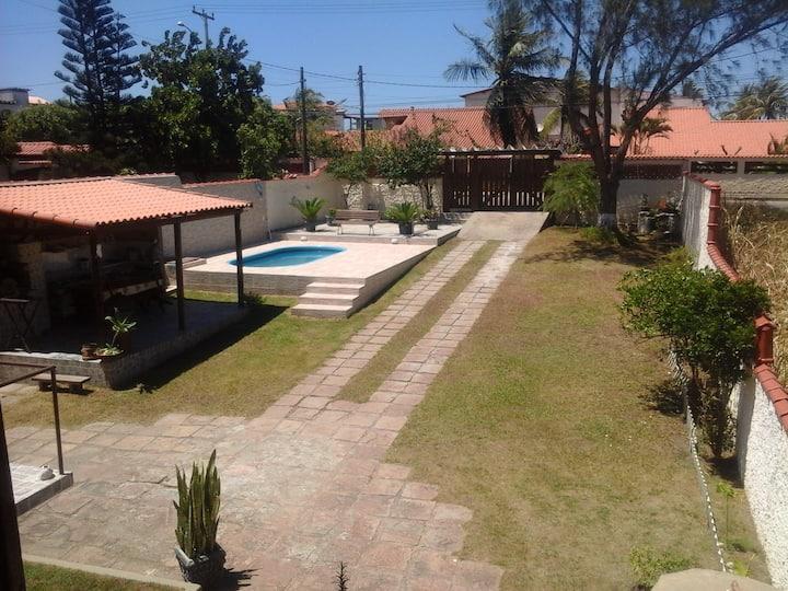 Casa c/ piscina, churrasqueira e WiFi -Ponta Negra